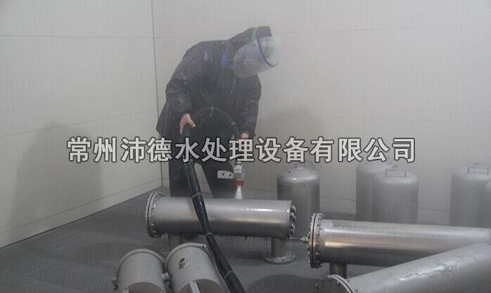 水处理设备喷砂车间1