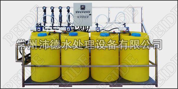 四泵四桶+浓缩倍数控制自动加药装置