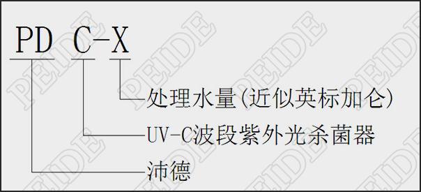 紫外线消毒器型号说明