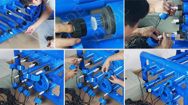 水产养殖紫外线杀菌器安装步骤图片参考