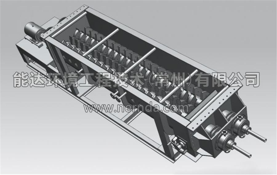 空心桨叶烘干机结构示意图4